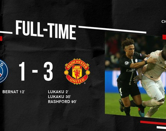 Manchester united vs PSG Champions League Results